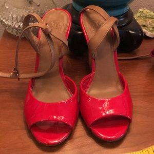 Tory Burch red patent size 6